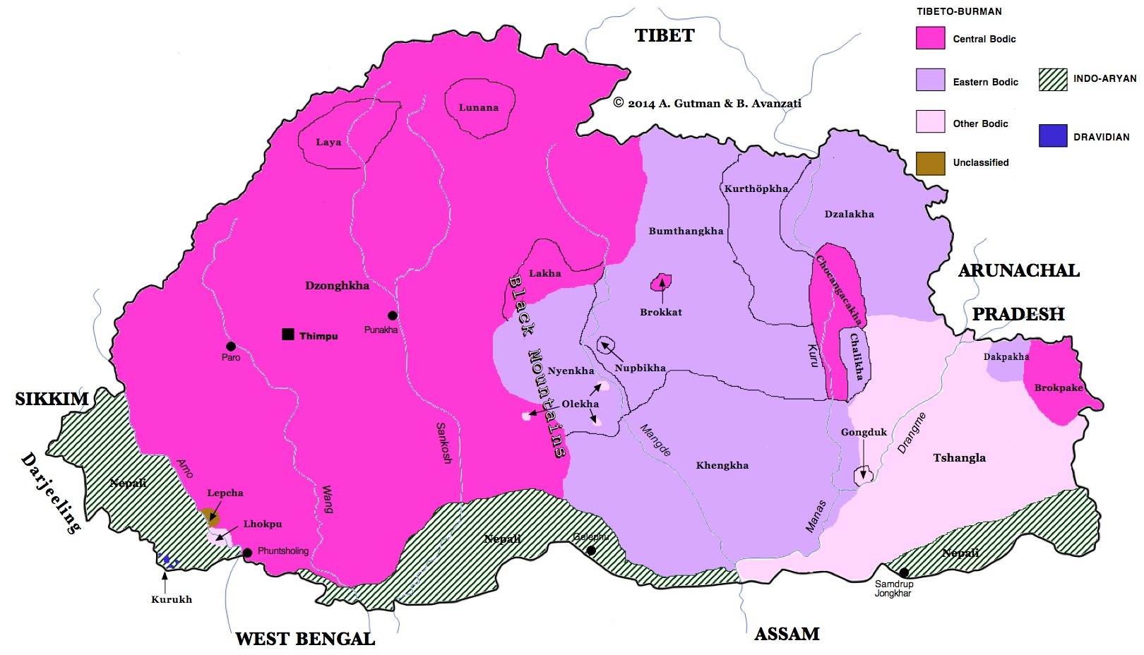 LINGUISTIC MAP OF BHUTAN on map of chile, united states of america, map of india, map of peru, map of sri lanka, map of japan, map of nepal, map of myanmar, map of k2, jetsun pema, map of china, map of middle east, map of iraq, map of singapore, map of tibet, south asia, sri lanka, map of brunei, map of philippines, map of liechtenstein, map of bangladesh, map of turkey, map of himalayas, map of asia,